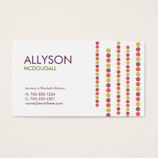 Modern Dots Calling Cards /