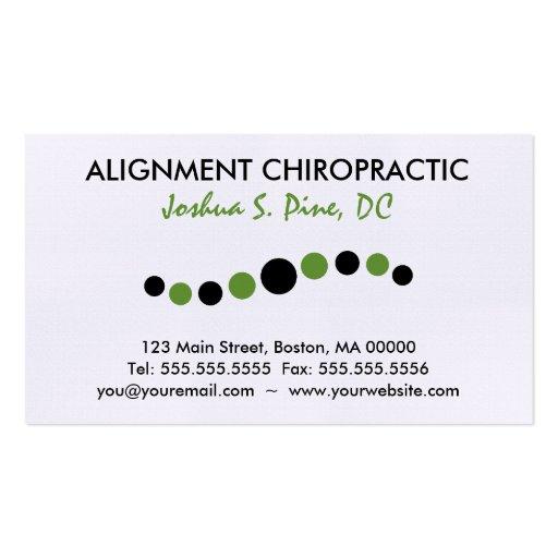 Modern Dots Chiropractic Business Card