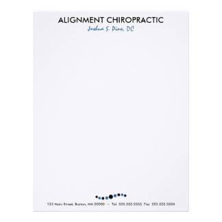 Modern Dots Chiropractic Letterhead