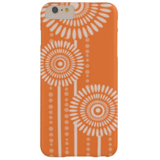 Modern Dots Flowers:Orange Barely There iPhone 6 Plus Case
