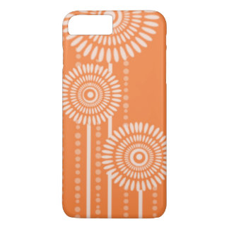 Modern Dots Flowers:Orange iPhone 7 Plus Case