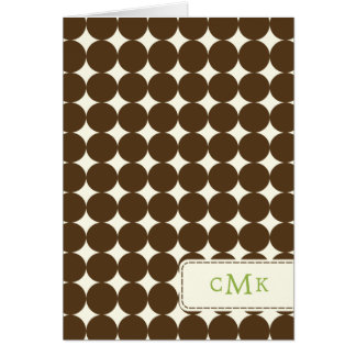 Modern Dots Thank You Card - Brown