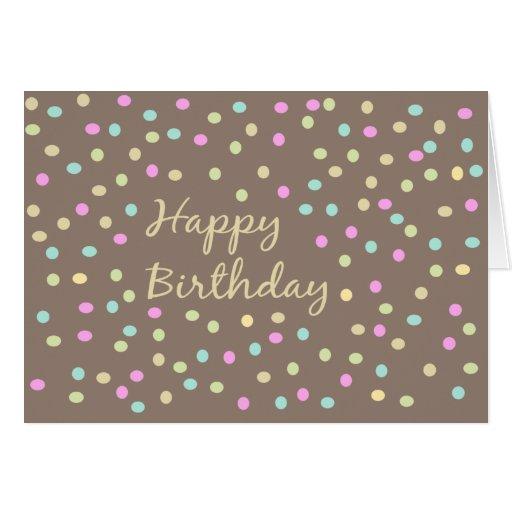 Modern Dotted pattern Birthday Card