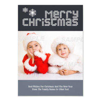 Modern Dotted Text Christmas Photo Template