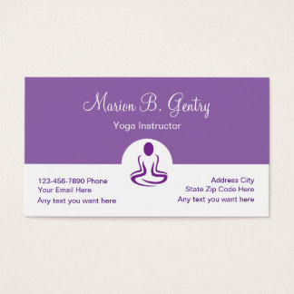 Modern Double Side Yoga Business Cards