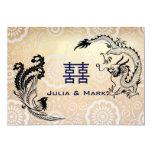 Modern Dragon-Phoenix Chinese Wedding Invitation