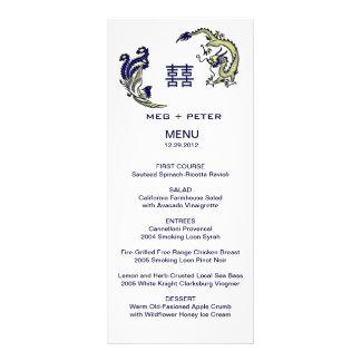 Modern Dragon-Phoenix Chinese Wedding Menu