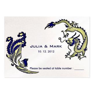 Modern Dragon-Phoenix Chinese Wedding Table Card 2