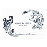 Modern Dragon-Phoenix Chinese Wedding Table Card 2 Large Business Cards (Pack Of 100)