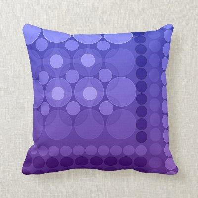 Modern Dream Bubbles Purple Cushions Pillows