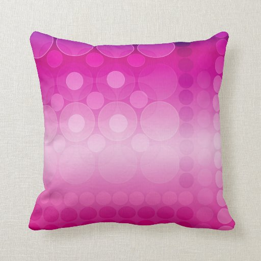 Modern Pink Pillow : Hot Pink & Gold Celtic Inspired Big Cushions