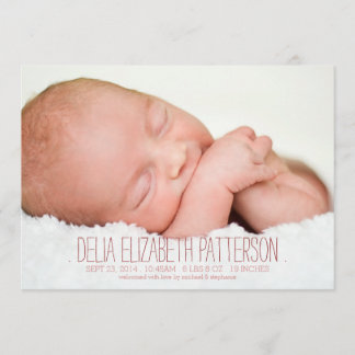 Modern Dream Two Photo Baby Birth Announcement