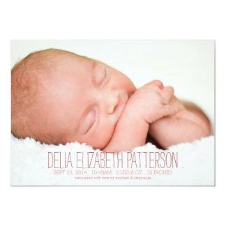 Modern Dream Two Photo Baby Birth Announcement