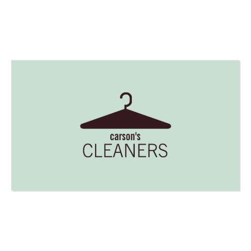 Modern Dry Cleaning Business Card