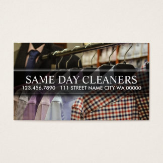 Modern Dry Cleaning Cleaners Business Card