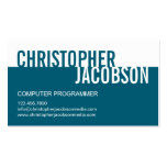 Modern Duotone Business Card - Teal Business Card Templates