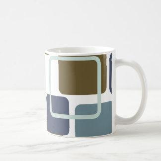 Modern Eames Rectangles 1 Coffee Mugs