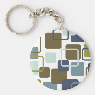 Modern Eames Rectangles 1 Keychain