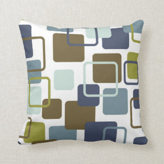 Modern Eames Rectangles 1 Throw Pillow