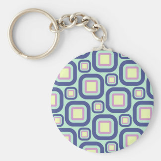 Modern Eames Rectangles 21 Keychain