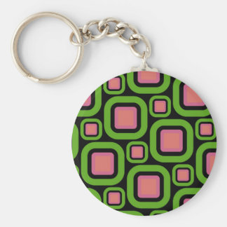 Modern Eames Rectangles 22 Keychain