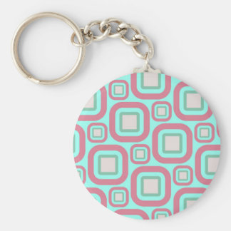 Modern Eames Rectangles 25 Keychain