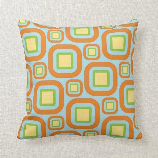 Modern Eames Rectangles 28 Throw Pillows