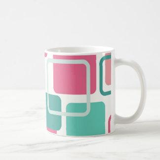 Modern Eames Rectangles 2 Coffee Mugs