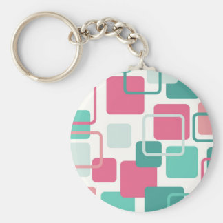 Modern Eames Rectangles 2 Keychain