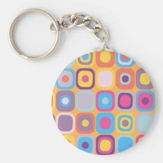 Modern Eames Rectangles 31 Keychain