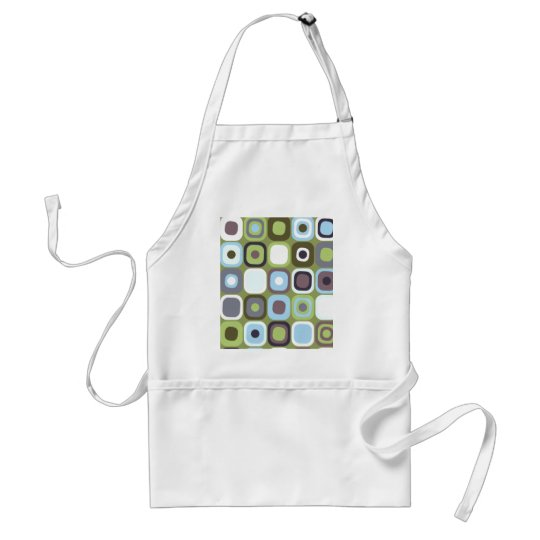 Modern Eames Rectangles 32 Adult Apron