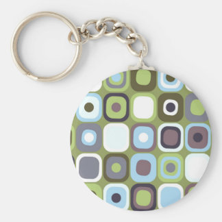 Modern Eames Rectangles 32 Keychain