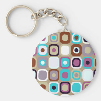 Modern Eames Rectangles 33 Keychain