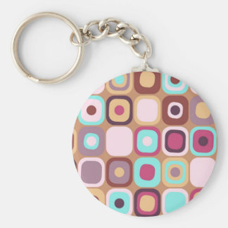Modern Eames Rectangles 34 Keychain