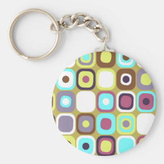 Modern Eames Rectangles 35 Keychain