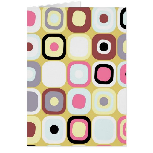 Modern Eames Rectangles 36 Greeting Card
