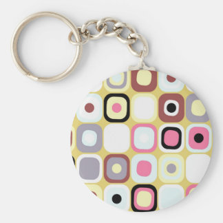 Modern Eames Rectangles 36 Keychain