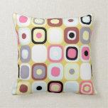 Modern Eames Rectangles 36 Throw Pillow