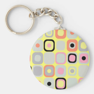 Modern Eames Rectangles 37 Keychain