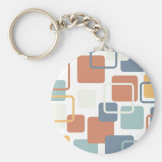 Modern Eames Rectangles 3 Keychain