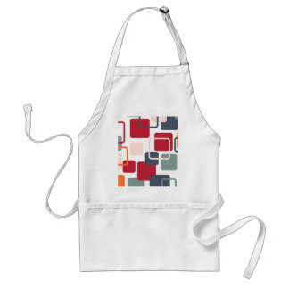 Modern Eames Rectangles 4 Adult Apron