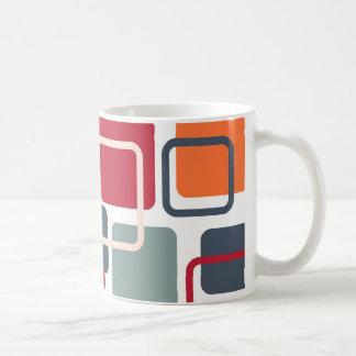 Modern Eames Rectangles 4 Coffee Mug