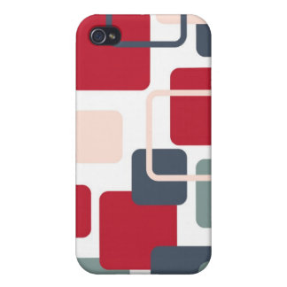 Modern Eames Rectangles 4 iPhone 4/4S Case