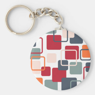 Modern Eames Rectangles 4 Keychain