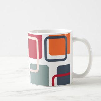 Modern Eames Rectangles 4 Mugs