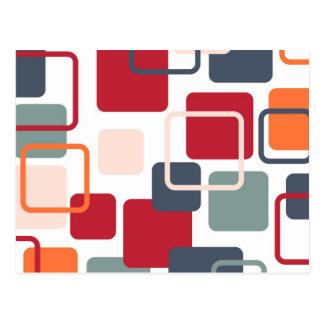 Modern Eames Rectangles 4 Postcard