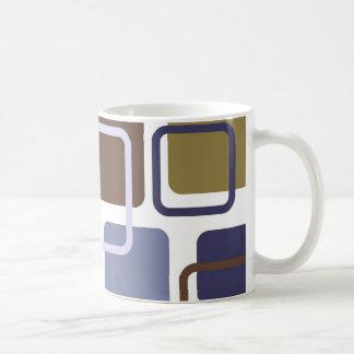 Modern Eames Rectangles 5 Coffee Mug