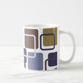 Modern Eames Rectangles 5 Coffee Mugs