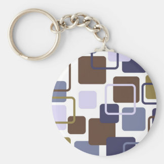 Modern Eames Rectangles 5 Keychain
