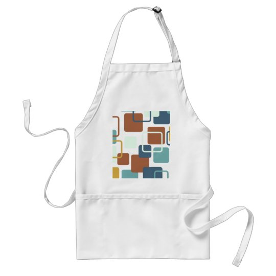 Modern Eames Rectangles 6 Adult Apron